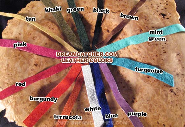 Leather and semi precious stones for Dreamcatcher beads meaning