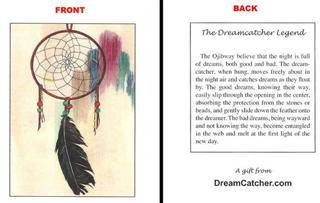 History Behind Dream Catchers Dreamcatcher Legend Card and history of the dream catcher 29