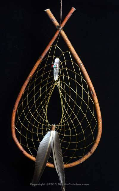 Authentic Red Willow Tee Pee Dream Catcher With Quartz Crystal Coral Awesome Chippewa Dream Catchers