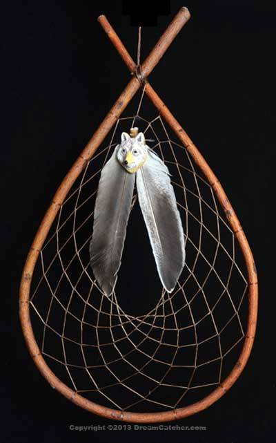 Authentic Red Willow Tee Pee Dream Catcher With Wolf Face Mesmerizing Chippewa Dream Catchers